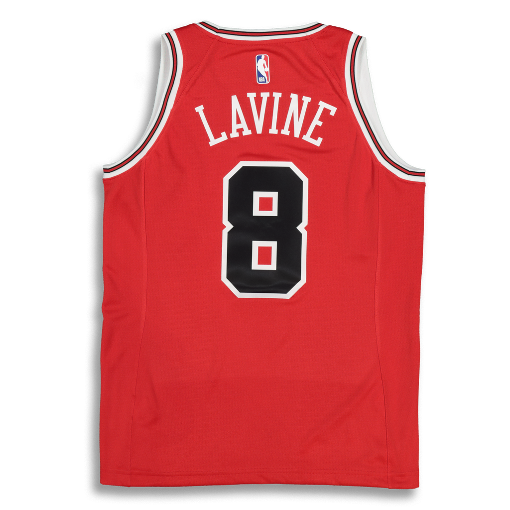 ... discount code for nike womens chicago bulls zach lavine 8 icon edition  nba jersey red white eab21be9e
