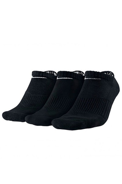 Nike Unisex Perfect Cushion No-Show Sock 3 Pack Black/White