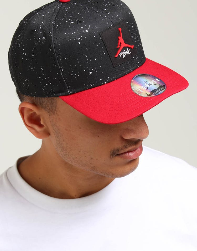 47b2dd9f357 Jordan Pro AOP Snapback Black Red – Culture Kings
