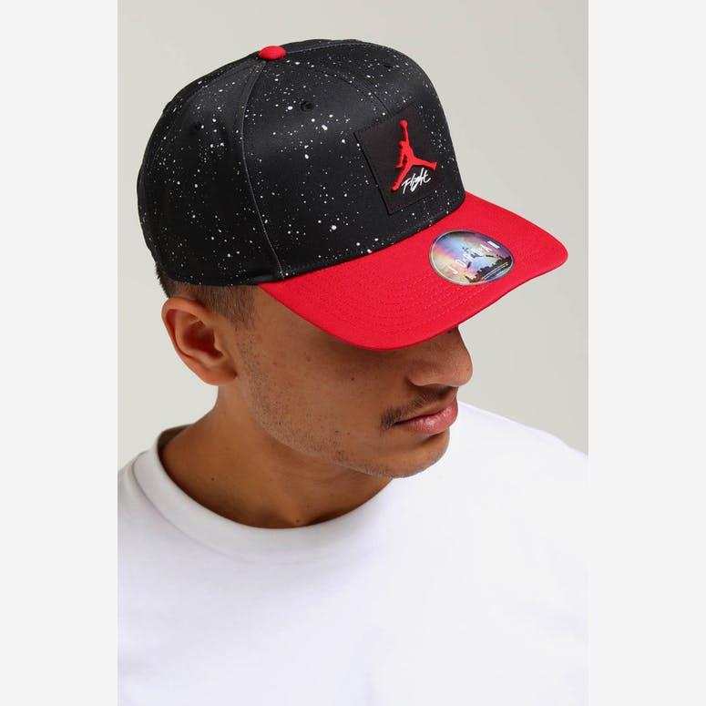 Jordan Pro AOP Snapback Black Red – Culture Kings e8e72e8fc8c