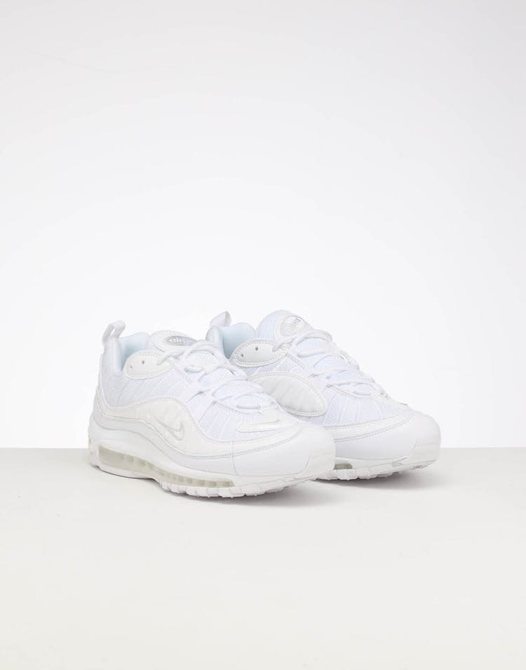 newest collection 7b7ed 64f4f Nike Air Max 98 White/Silver