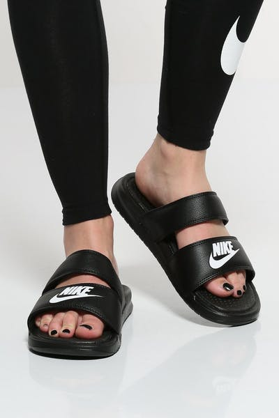 Nike Women's Benassi Duo Ultra Slide Black/White