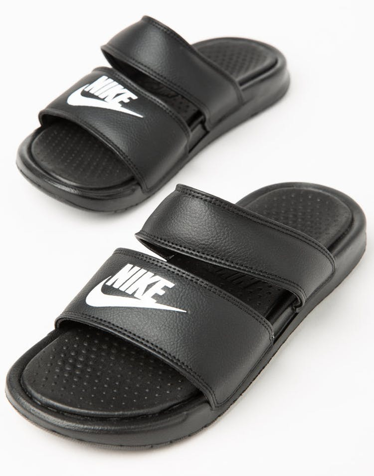 9e085d01e6f1 Nike Women s Benassi Duo Ultra Slide Black White