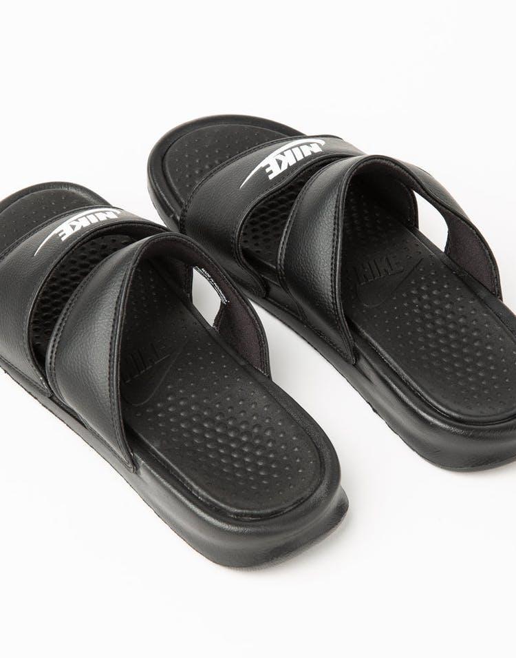 d66adedba01c Nike Women s Benassi Duo Ultra Slide Black White