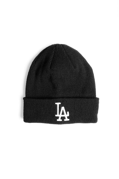 New Era Dodgers Ribbed Beanie Black