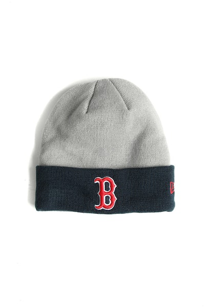 New Era Red Sox Cuff Beanie Grey/Navy