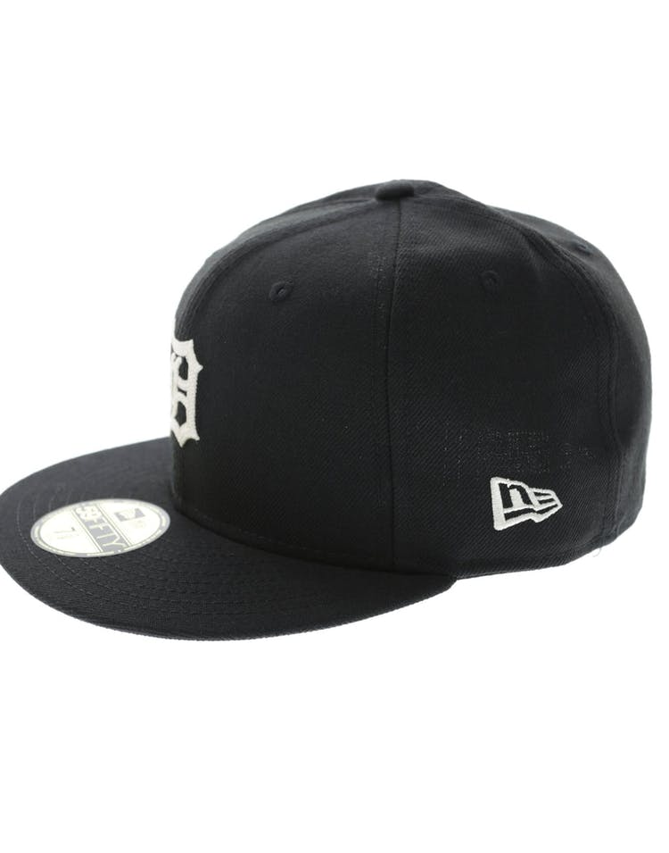 size 40 1bad1 d25be New Era Tigers 59Fifty Chain Stitch Fitted Black