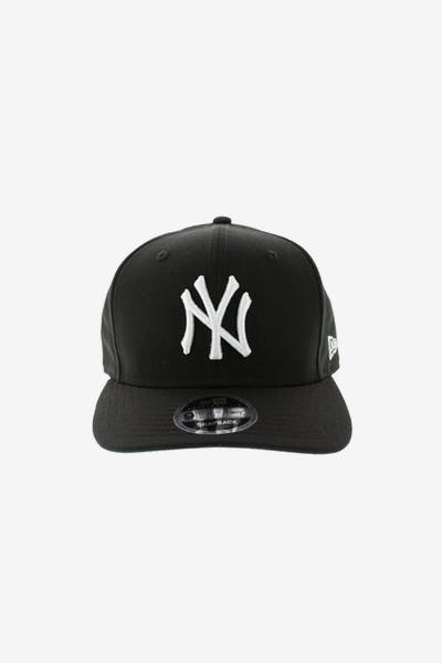 New Era Yankees 9FIFTY Precurve Original Fit Snapback Black White 5b467ad80