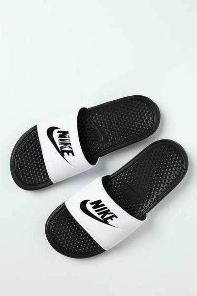 "Nike Benassi ""Just Do It"" Slide White/Black"