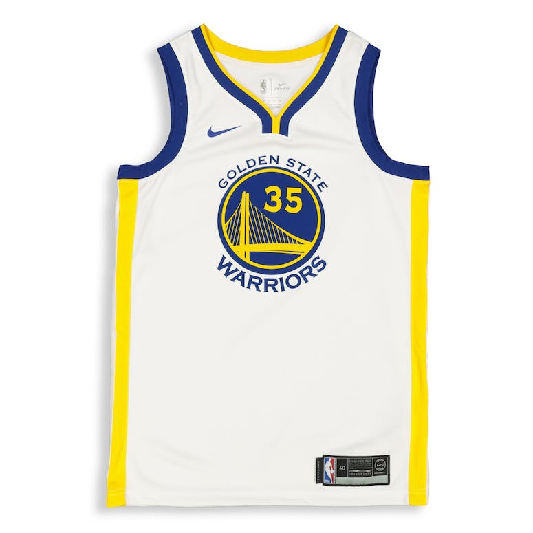 size 40 e1b11 5ce18 Kevin Durant #35 Golden State Warriors Nike Association Edition Swingman  Jersey White/Blue/Yellow
