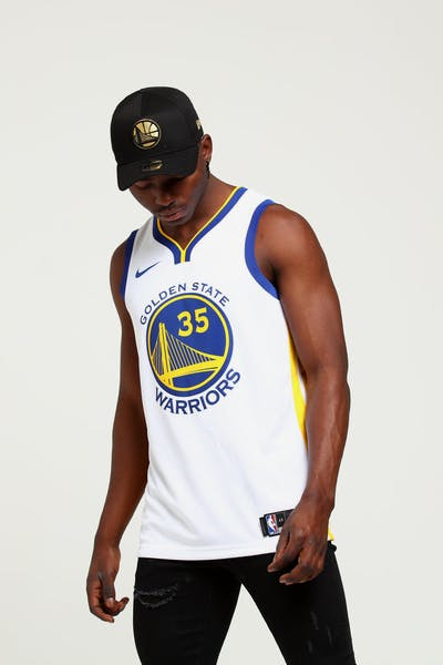 Kevin Durant  35 Golden State Warriors Nike Association Edition Swingman  Jersey White Blue  41fe38fda