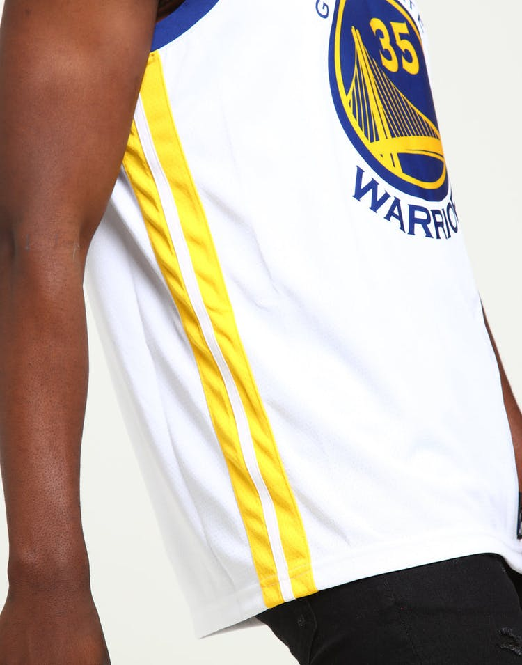 7c5516219 Kevin Durant  35 Golden State Warriors Nike Association Edition Swingman  Jersey White Blue