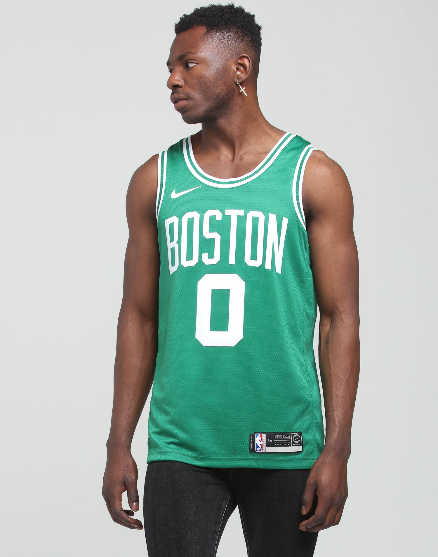 Nike Boston Celtics Jason Tatum #0 Icon Edition NBA Swingman Clover