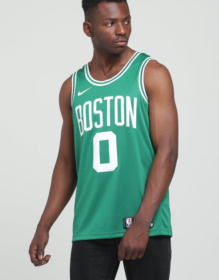 save off 013fb 2719b Nike Boston Celtics Jason Tatum #0 Icon Edition NBA Swingman Clover