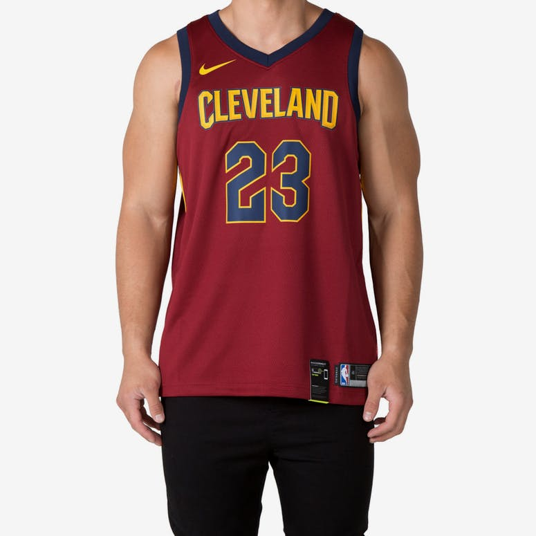 e0e3cbfb8 LeBron James  23 Cleveland Cavaliers Nike Icon Edition Swingman Jersey –  Culture Kings