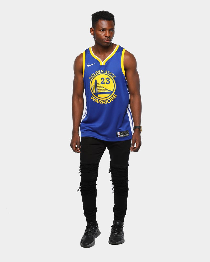 Draymond Green #23 Golden State Warriors Nike Icon Edition Swingman Jersey Blue/White/Yellow