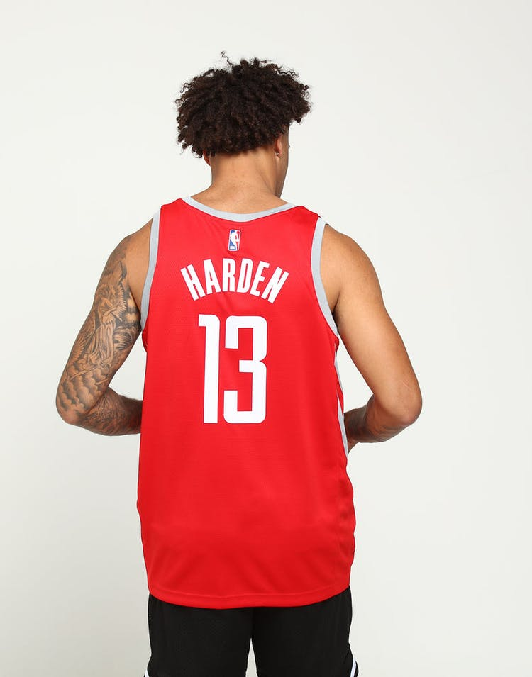 c7ae66924 James Harden  13 Houston Rockets Nike Icon Edition Swingman Jersey Red  Silver
