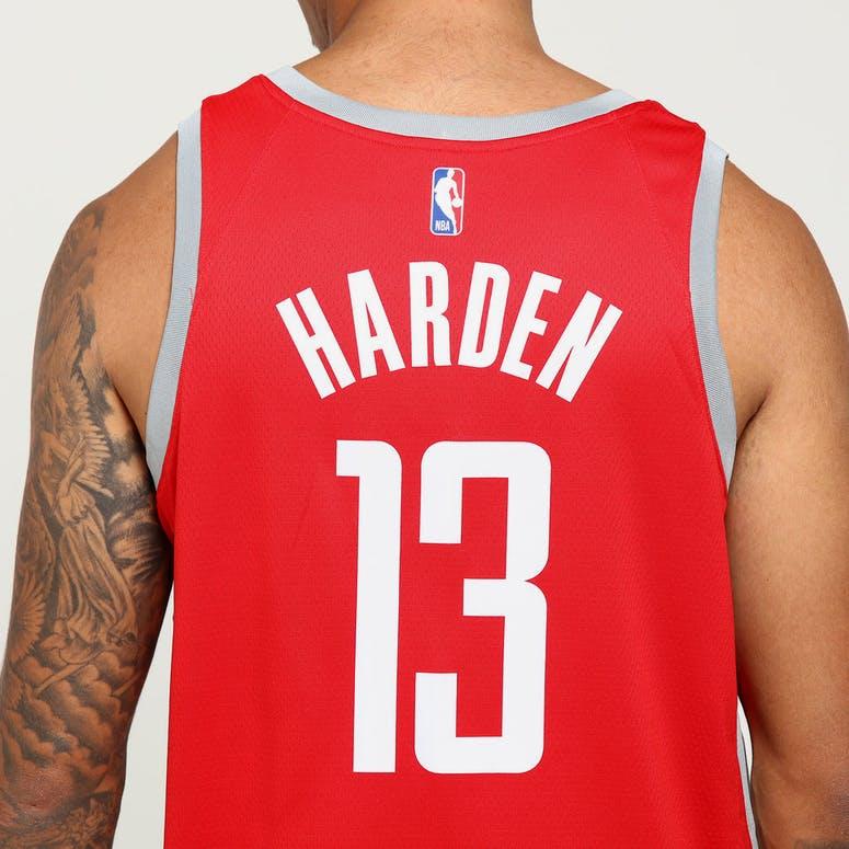 38de4acb6 James Harden  13 Houston Rockets Nike Icon Edition Swingman Jersey Red  Silver