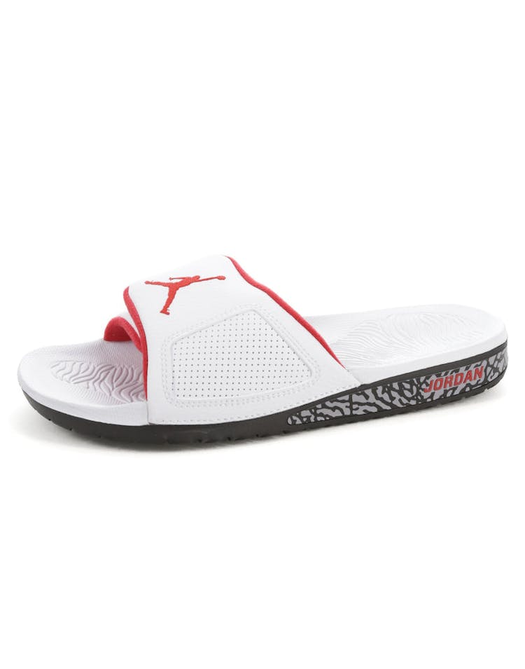 2afff8f65340 Jordan Hydro III Retro Slide White Red Black