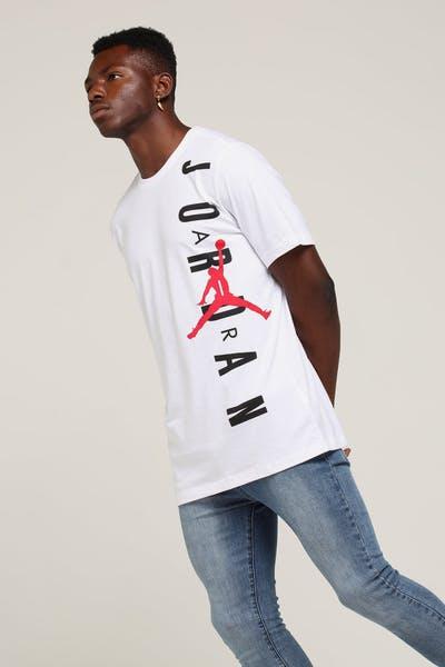 brand new 9312e 8be8b Jordan Vertical Tee White Red