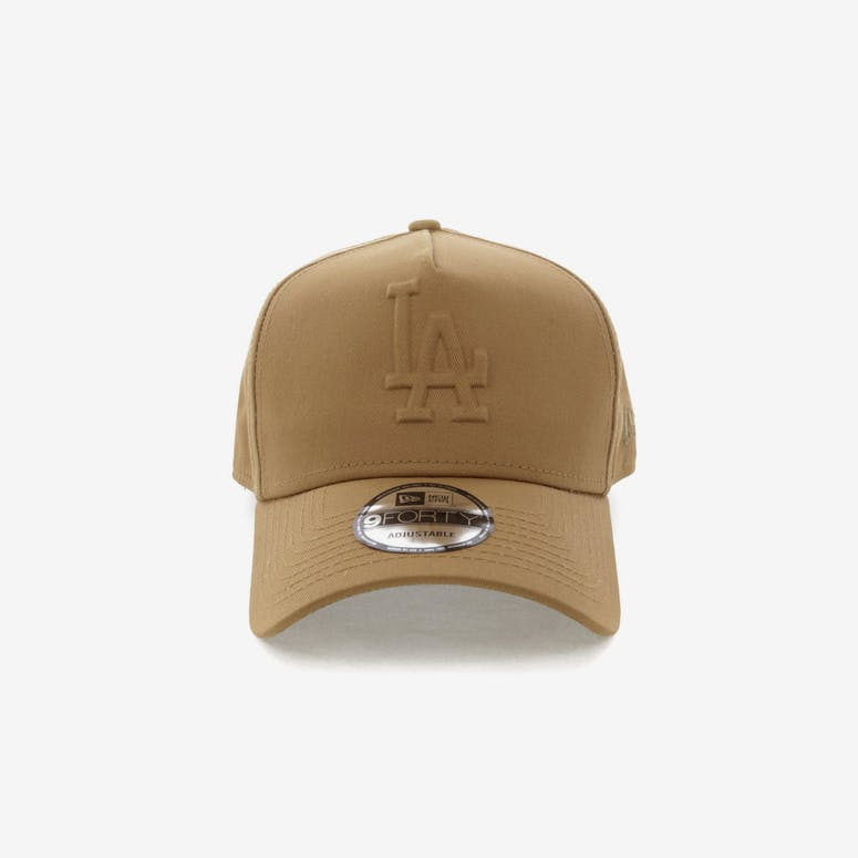 86a42bbbd8b New Era Los Angeles Dodgers Emboss 9FORTY A-Frame Snapback Wheat – Culture  Kings