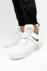 NIKE AIR FORCE 1 UTILITY WHITE/WHITE/BLACK