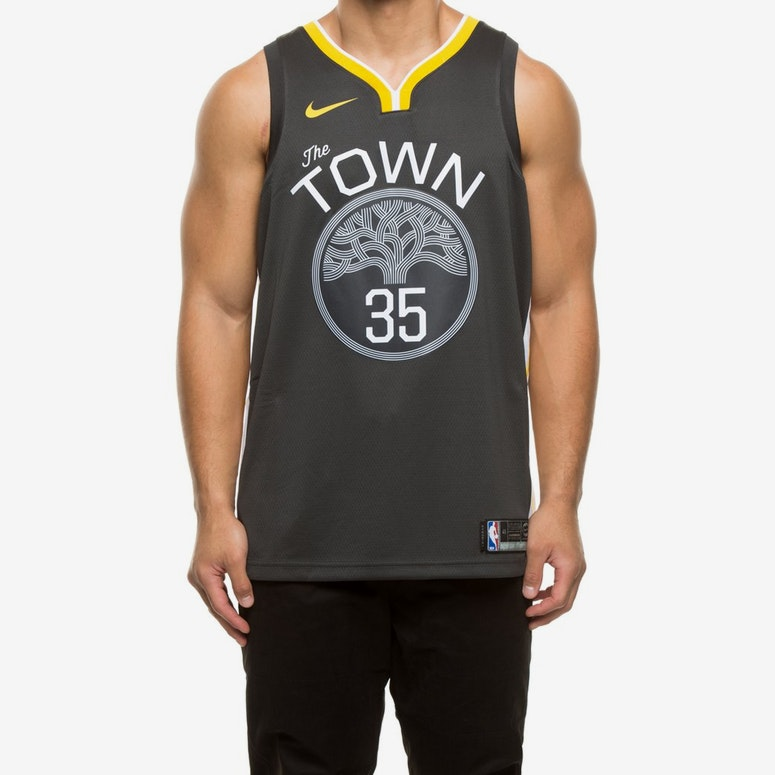 low priced eab53 e2e62 Nike Golden State Warriors #35 Kevin Durant Alternate Swingman Jersey  Grey/White/Yellow