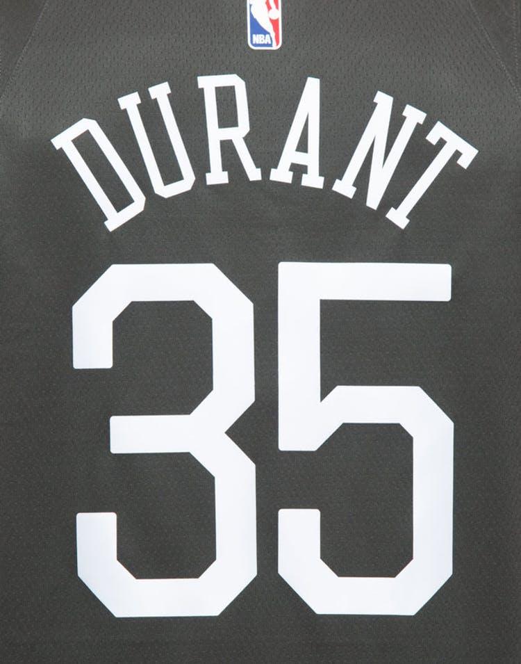 Nike Golden State Warriors #35 Kevin Durant Alternate Swingman Jersey  Grey/White/Yellow