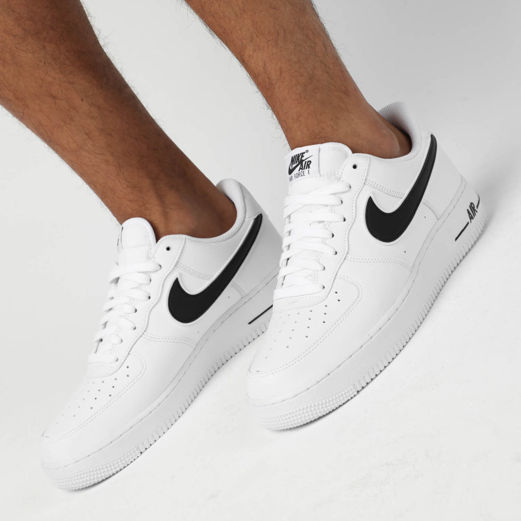 Nike Men's Air Force 1 '07 3 Basketball Shoes, WhiteBlack, Size 13