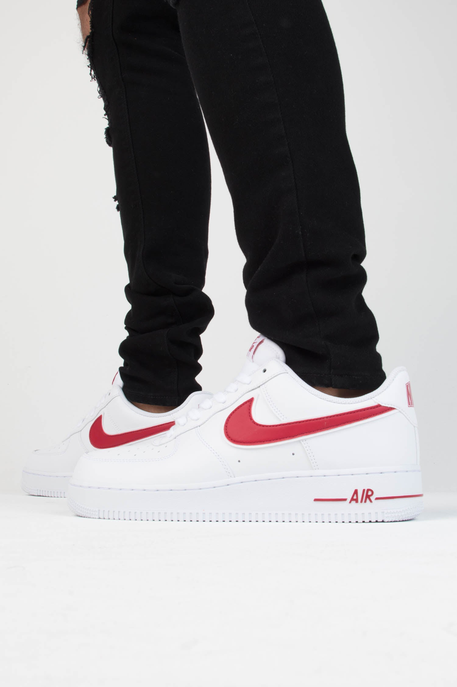 Nike Air Force 1 '07 3 White Gym Red | Footshop