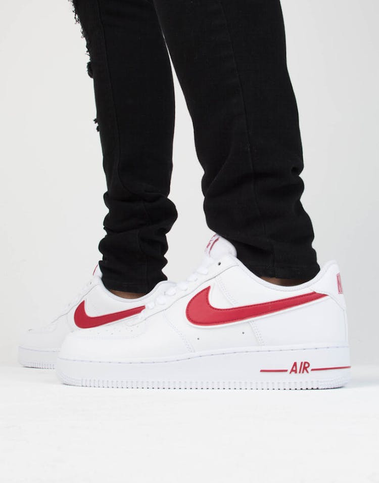 innovative design bac37 374a2 Nike Air Force 1  07 3 White Red – Culture Kings