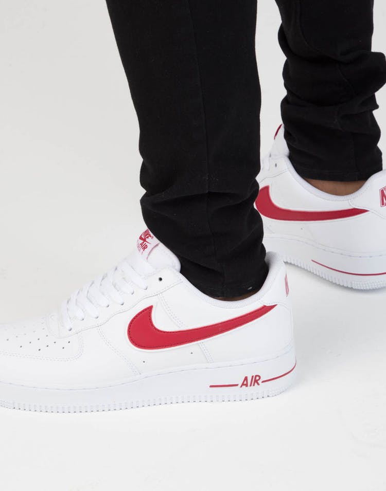 big sale 9d9bf 3e3c2 Nike Air Force 1  07 3 White Red
