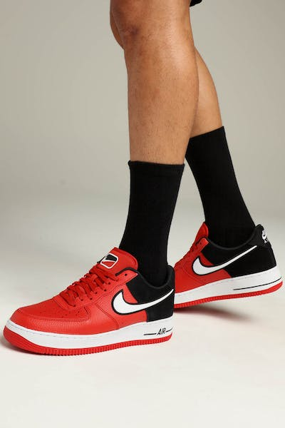 b0743005b4ad61 Nike Air Force 1  07 LV8 1 Red White Black