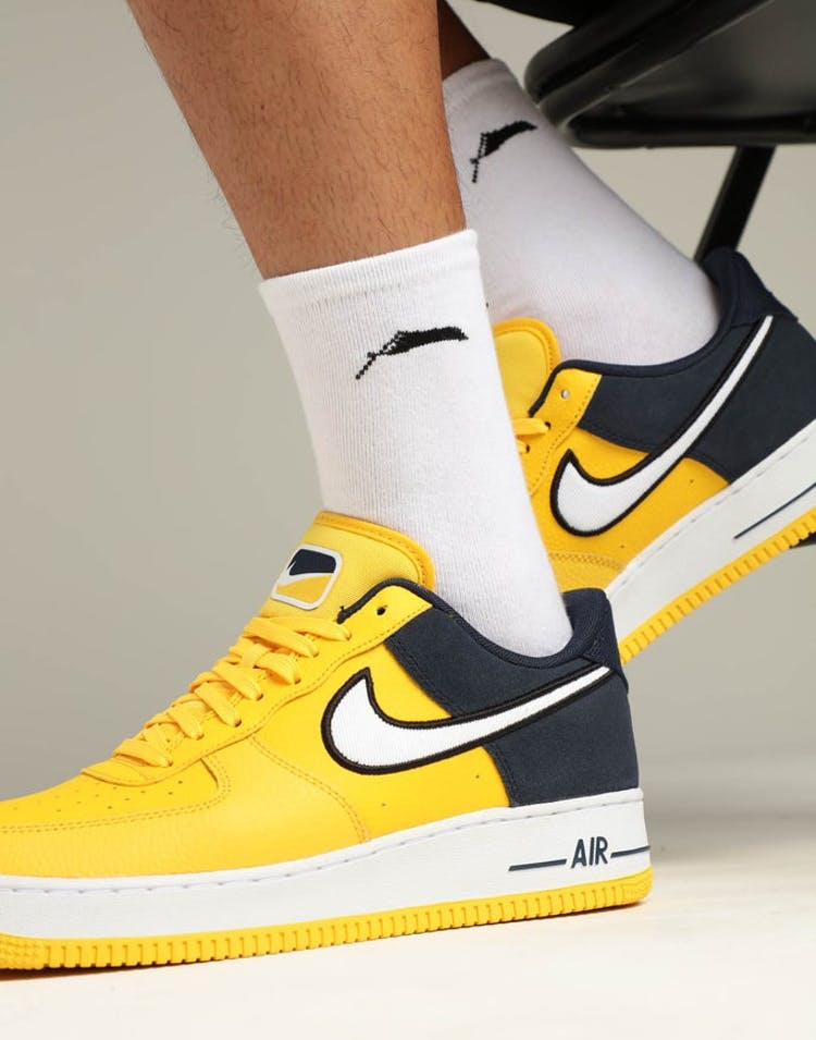 online store a4c88 ec3bb Nike Air Force 1  07 LV8 1 Amarillo White Obsidian – Culture Kings
