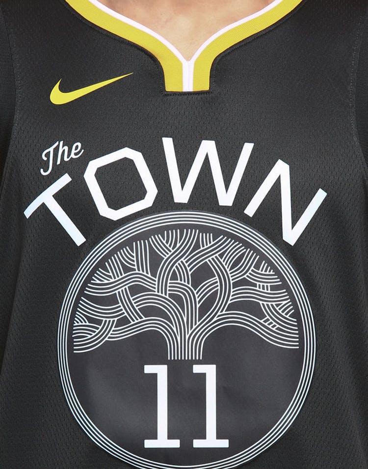 best service d6c93 6c7c3 Nike Golden State Warriors #11 Klay Thompson Statement Edition Swingman  Jersey Grey/White/Yellow