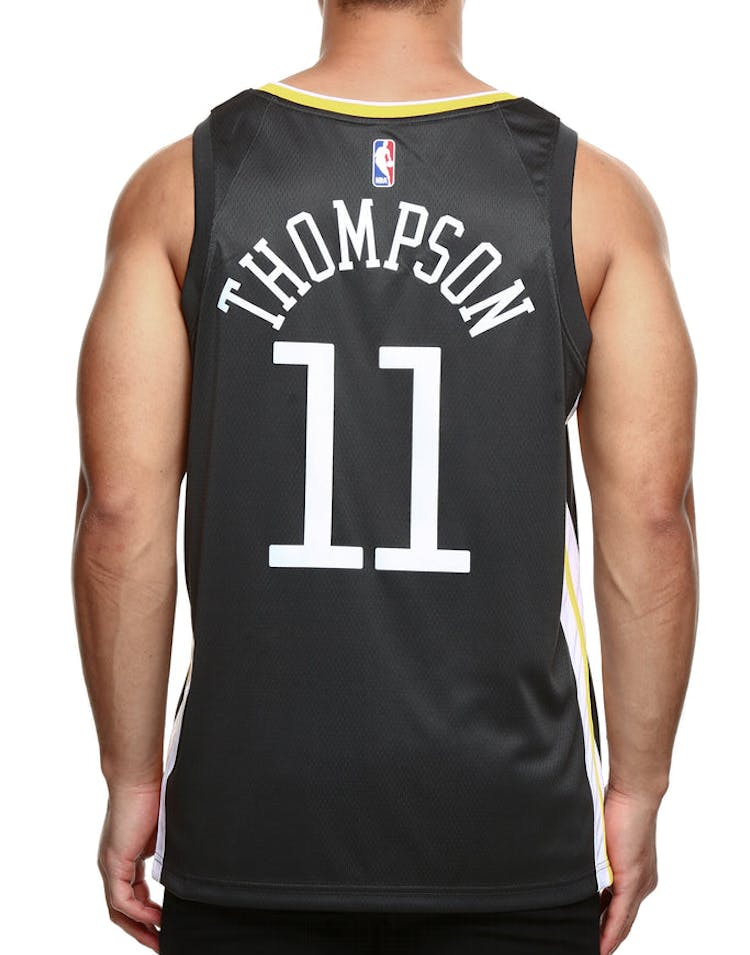 best service 8d7a1 3f8e2 Nike Golden State Warriors #11 Klay Thompson Statement Edition Swingman  Jersey Grey/White/Yellow