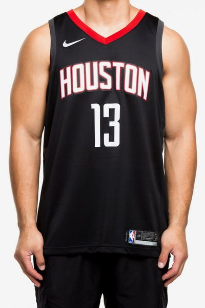 c04fb7fa8 Nike Houston Rockets  13 James Harden Alternate Swingman Jersey Black Red