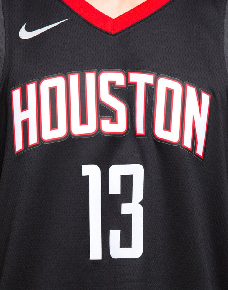 c203497d5 Nike Houston Rockets  13 James Harden Alternate Swingman Jersey Black Red