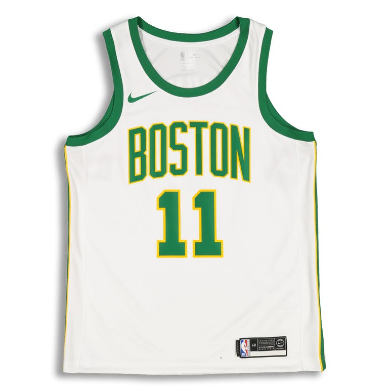 fd3d41a597c1 Nike Boston Celtics Kyrie Irving  11 City Edition Swingman NBA Jersey White