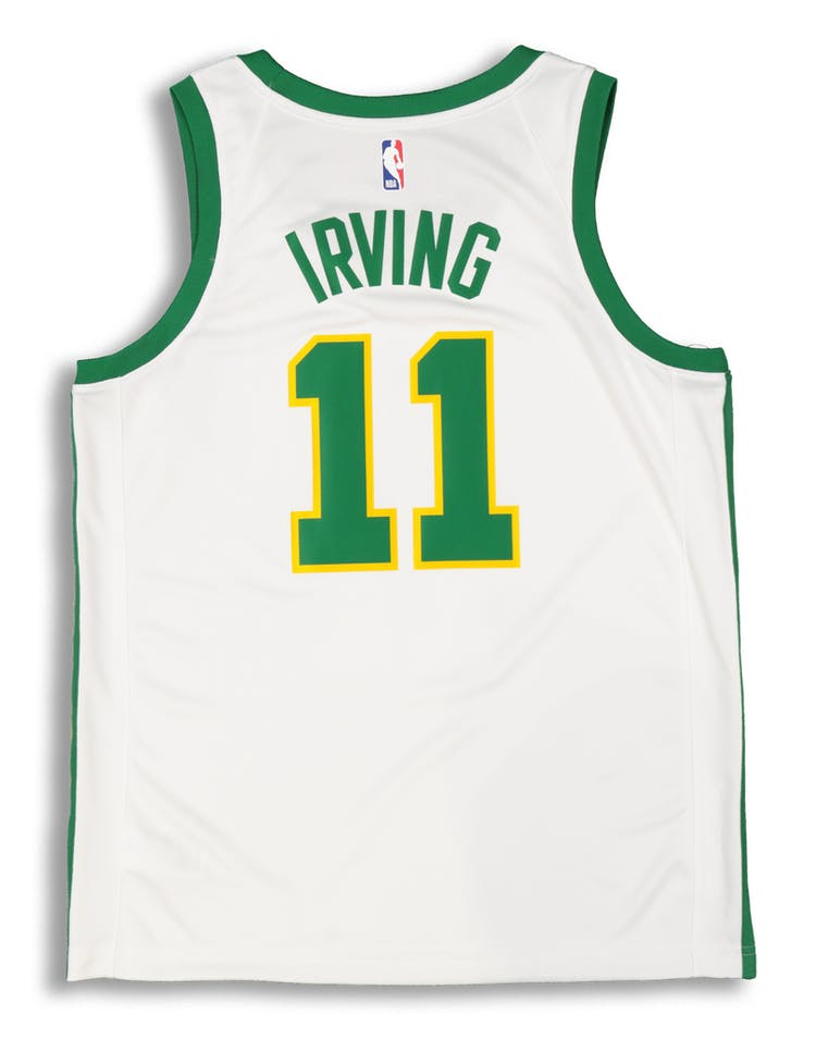 2d1367558 Nike Boston Celtics Kyrie Irving  11 City Edition Swingman NBA Jersey White