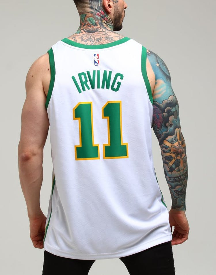 314bed8b5 Nike Boston Celtics Kyrie Irving  11 City Edition Swingman NBA Jersey –  Culture Kings