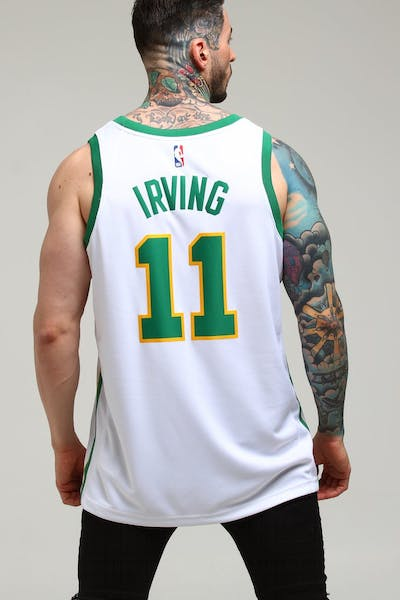 989c59ef1dd Nike Boston Celtics Kyrie Irving  11 City Edition Swingman NBA Jersey White