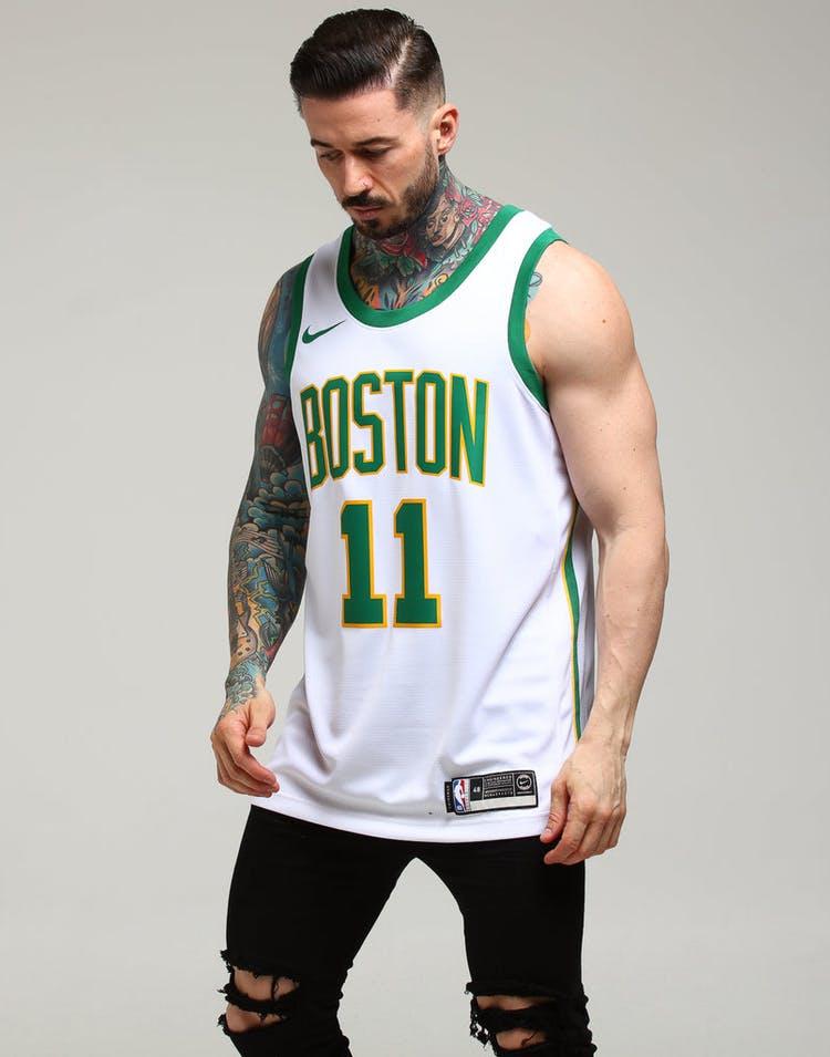 b3fe37ab648 Nike Boston Celtics Kyrie Irving #11 City Edition Swingman NBA Jersey White