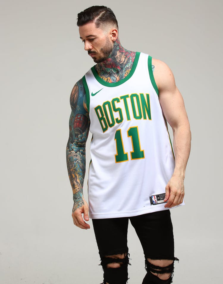1cf8dc32597 Nike Boston Celtics Kyrie Irving  11 City Edition Swingman NBA Jersey White