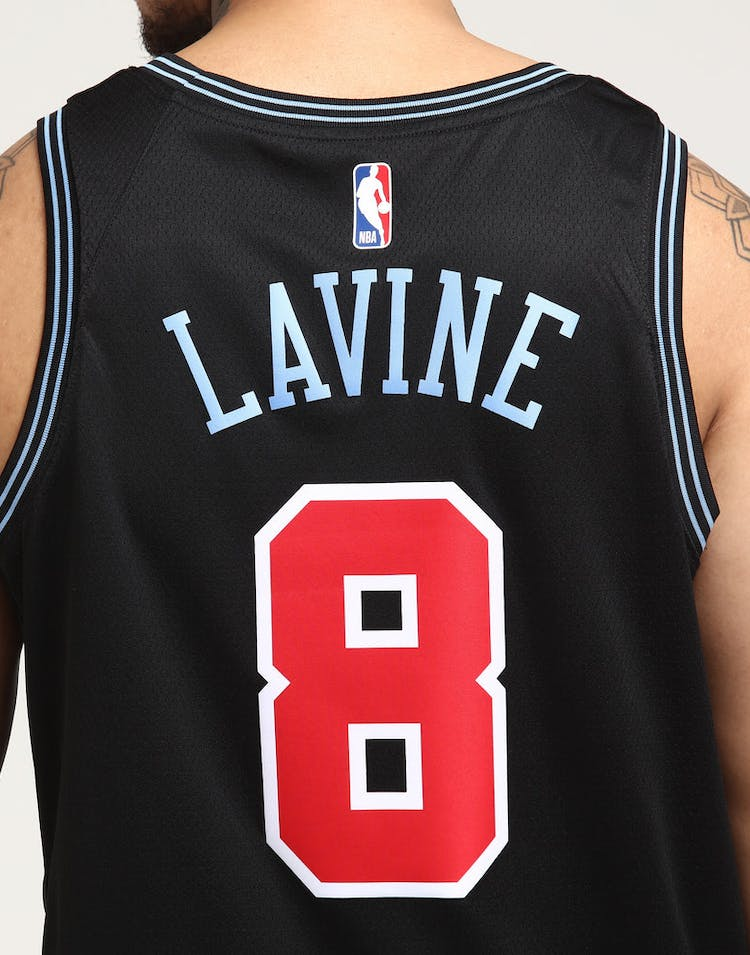 e605779fa Nike Chicago Bulls Zach LaVine  8 City Edition Swingman NBA Jersey  18 Black
