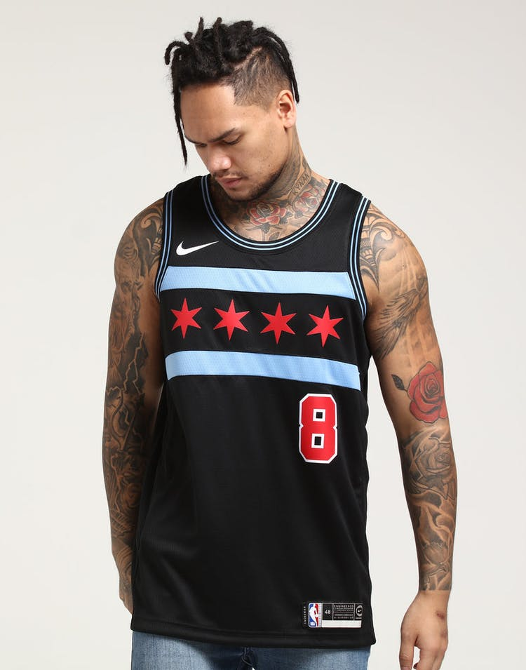 7b9236ab54d Nike Chicago Bulls Zach LaVine  8 City Edition Swingman NBA Jersey  18 –  Culture Kings