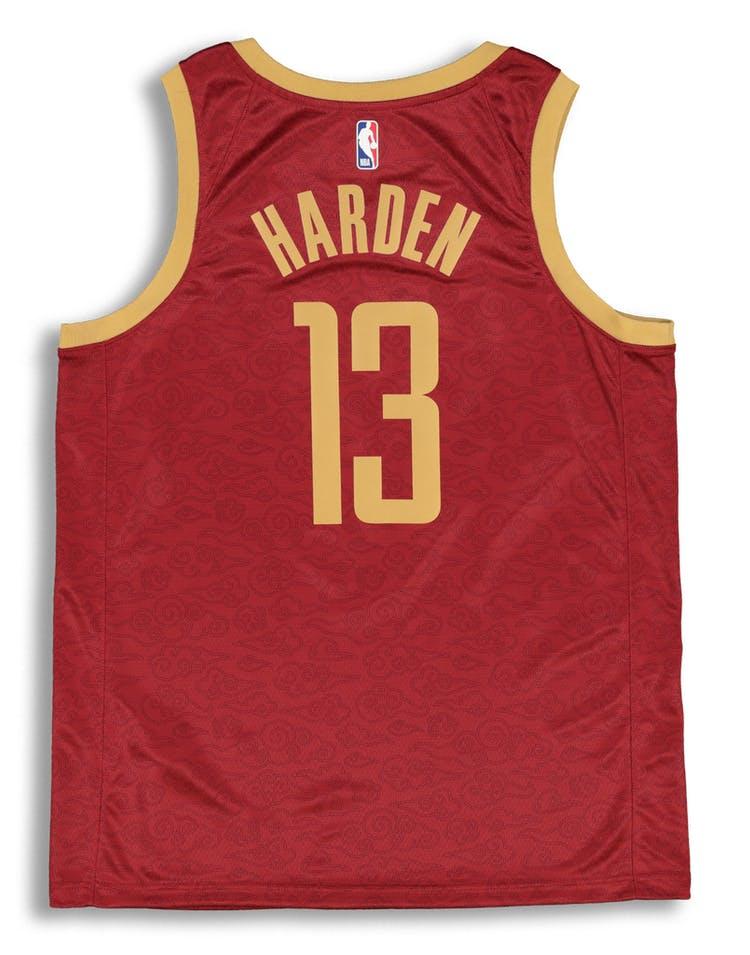 pretty nice 0678a 3b348 Nike Houston Rockets James Harden #13 City Edition Swingman NBA Jersey  Crimson