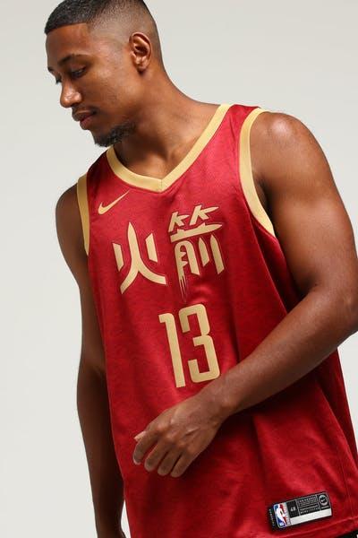 2668c398daf Nike Houston Rockets James Harden  13 City Edition Swingman NBA Jersey  Crimson