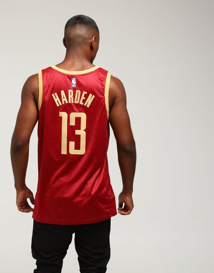 e8f8af317a6 Nike Houston Rockets James Harden  13 City Edition Swingman NBA Jersey  Crimson