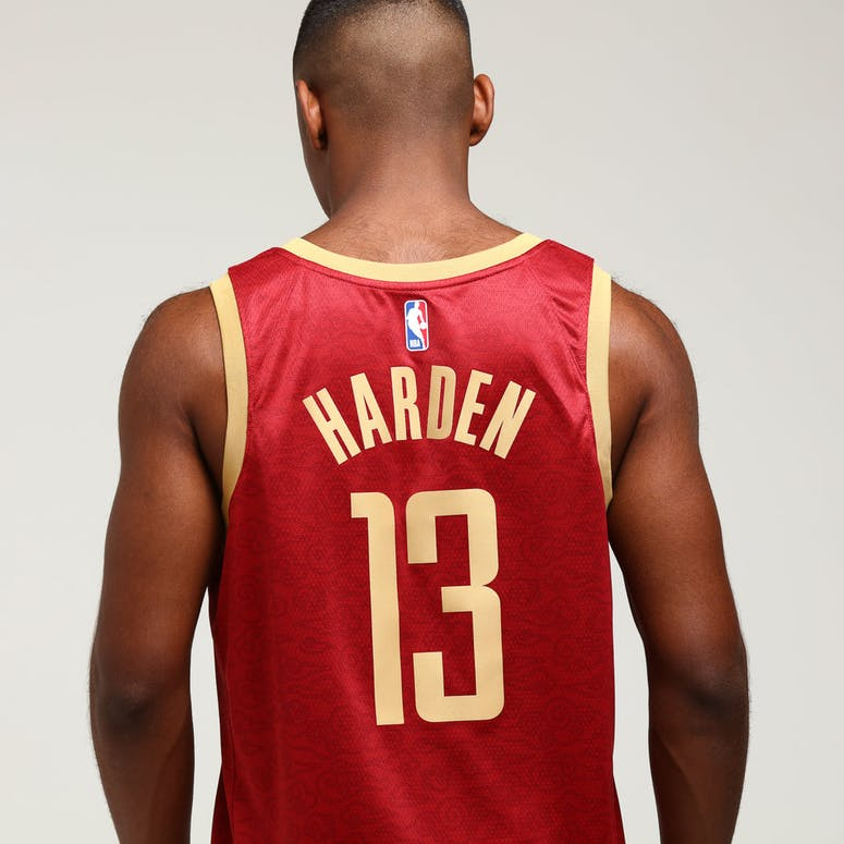 8c1cbaddf9c Nike Houston Rockets James Harden  13 City Edition Swingman NBA Jersey  Crimson